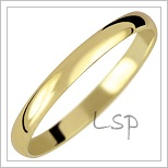Snubní prsteny LSP 1001 žluté zlato