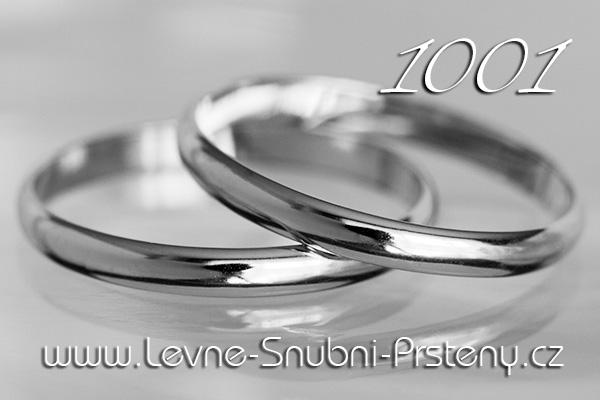 Snubní prsteny LSP 1001b bílé zlato