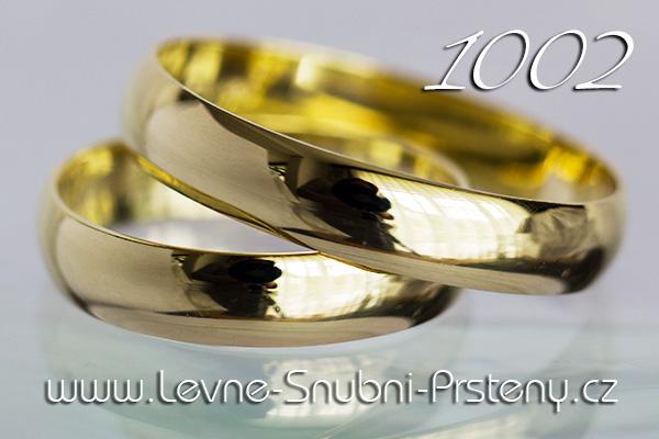 Snubní prsteny LSP 1002 žluté zlato