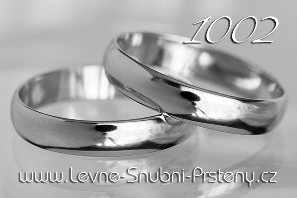 Snubní prsteny LSP 1002b bílé zlato