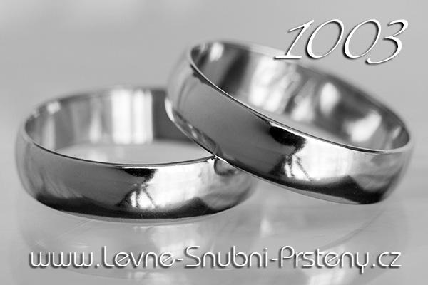 Snubní prsteny LSP 1003b bílé zlato