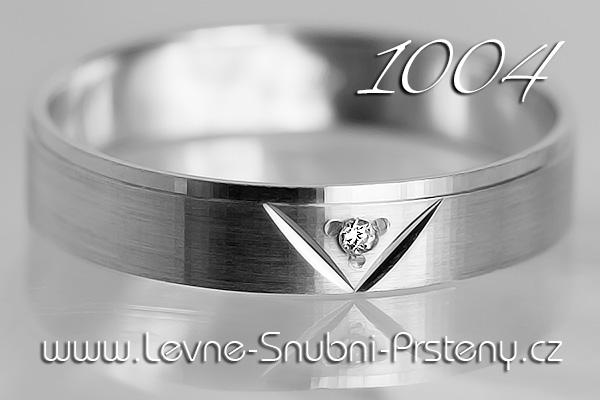 Snubní prsteny LSP 1004bz bílé zlato