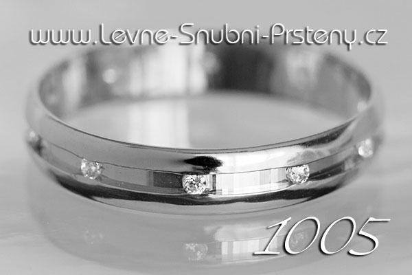 Snubní prsteny LSP 1005bz bílé zlato