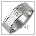 Snubní prsteny LSP 1006b bílé zlato