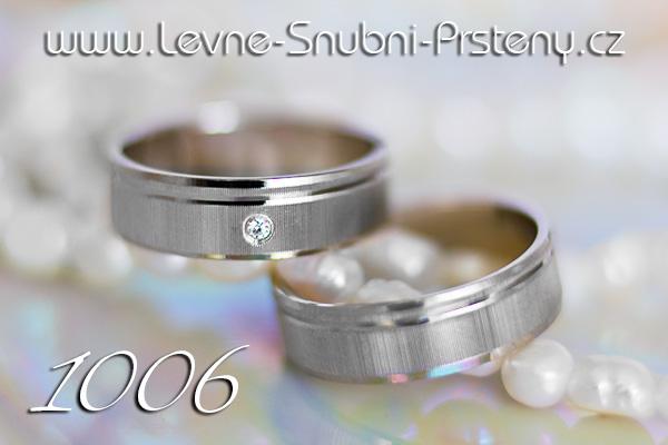 Snubní prsteny LSP 1006bz bílé zlato se zirkonem