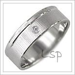 Snubní prsteny LSP 1006bz bílé zlato