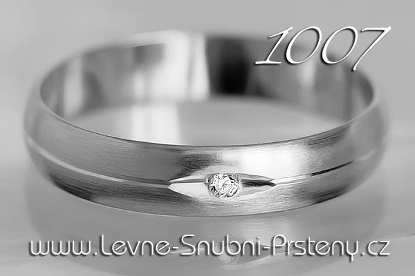 Snubní prsteny LSP 1007bz bílé zlato