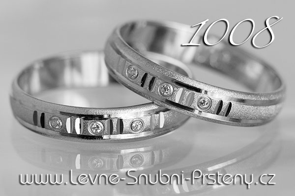 Snubní prsteny LSP 1008b bílé zlato