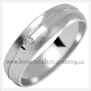 Snubní prsteny LSP 1009b bílé zlato