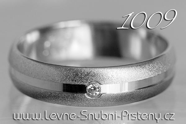 Snubní prsteny LSP 1009bz bílé zlato se zirkonem