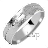 Snubní prsteny LSP 1009bz bílé zlato