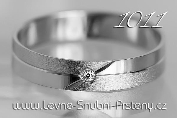 Snubní prsteny LSP 1011b bílé zlato