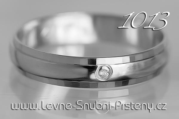 Snubní prsteny LSP 1013b bílé zlato