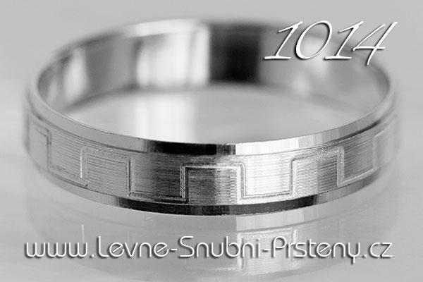 Snubní prsteny LSP 1014b bílé zlato