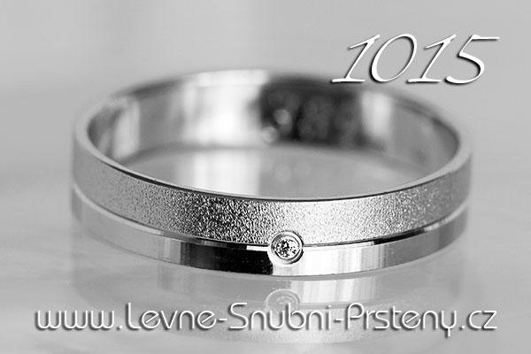 Snubní prsteny LSP 1015b bílé zlato