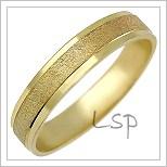 Snubní prsteny LSP 1016 žluté zlato