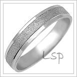 Snubní prsteny LSP 1016b bílé zlato