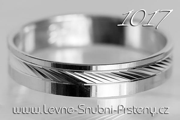 Snubní prsteny LSP 1017b bílé zlato