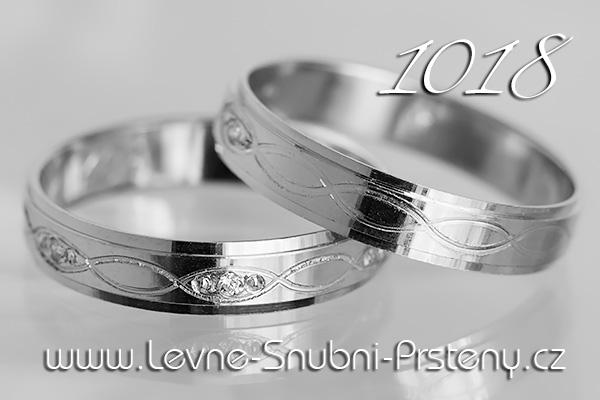 Snubní prsteny LSP 1018b bílé zlato