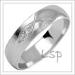 Snubní prsteny LSP 1020b bílé zlato