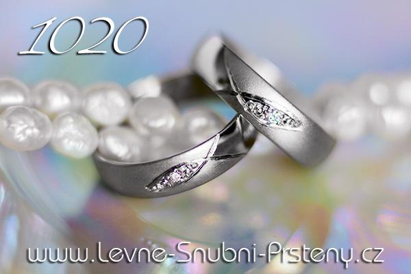 Snubní prsteny LSP 1020bz bílé zlato se zirkonem