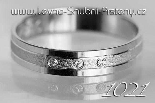 Snubní prsteny LSP 1021bz bílé zlato