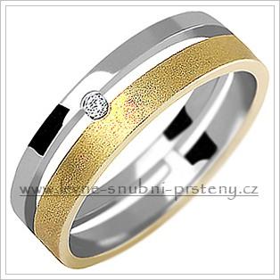 Snubní prsteny LSP 1024 kombinované zlato