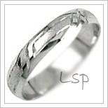 Snubní prsteny LSP 1025b bílé zlato