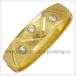 Snubní prsteny LSP 1026 žluté zlato s diamanty