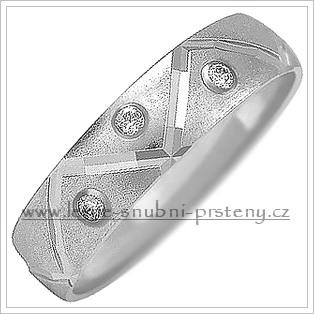 Snubní prsteny LSP 1026b bílé zlato