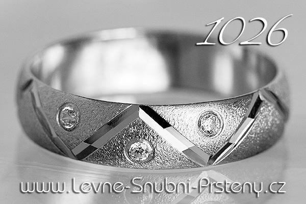 Snubní prsteny LSP 1026bz bílé zlato
