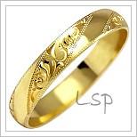 Snubní prsteny LSP 1027 žluté zlato