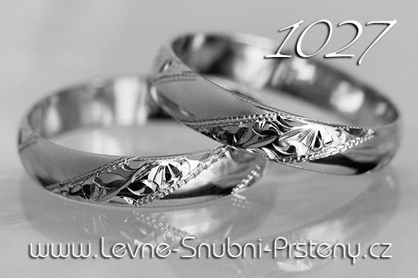Snubní prsteny LSP 1027b bílé zlato