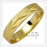Snubní prsteny LSP 1028 žluté zlato