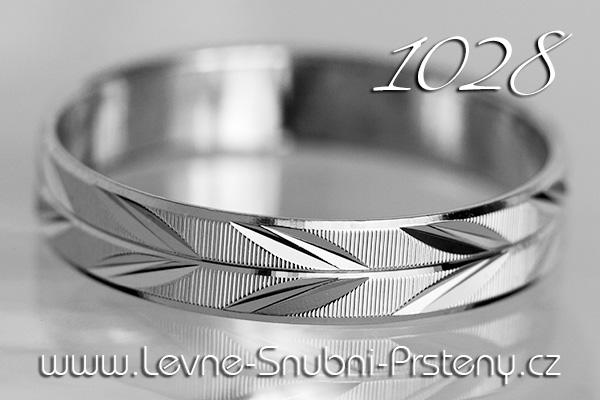 Snubní prsteny LSP 1028b bílé zlato