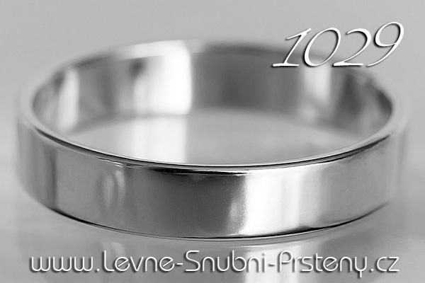 Snubní prsteny LSP 1029b bílé zlato
