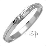 Snubní prsteny LSP 1030b bílé zlato