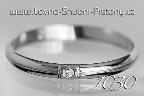 Snubní prsteny LSP 1030bz bílé zlato