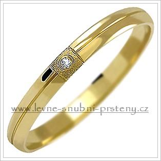 Snubní prsteny LSP 1030z žluté zlato se zirkony