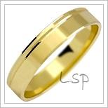 Snubní prsteny LSP 1031 žluté zlato