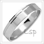 Snubní prsteny LSP 1031b bílé zlato