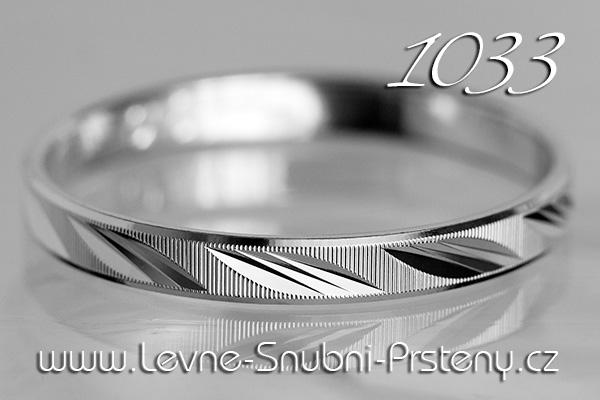 Snubní prsteny LSP 1033b bílé zlato