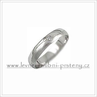 Snubní prsteny LSP 1034b bílé zlato