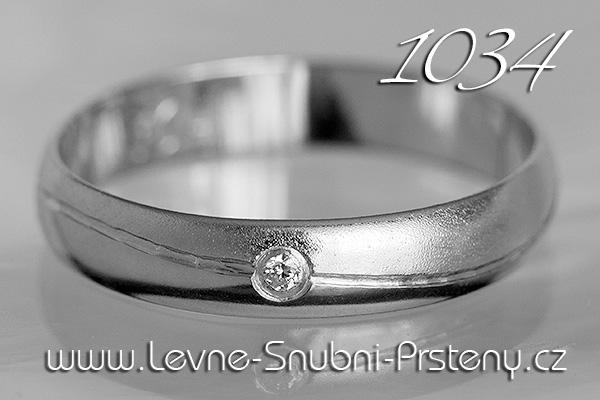 Snubní prsteny LSP 1034bz bílé zlato