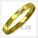 Snubní prsteny LSP 1035 žluté zlato