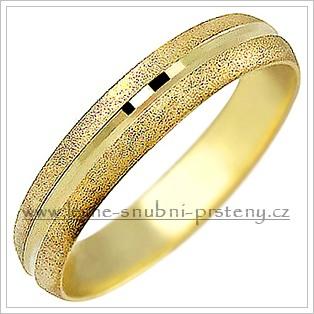 Snubní prsteny LSP 1036 žluté zlato