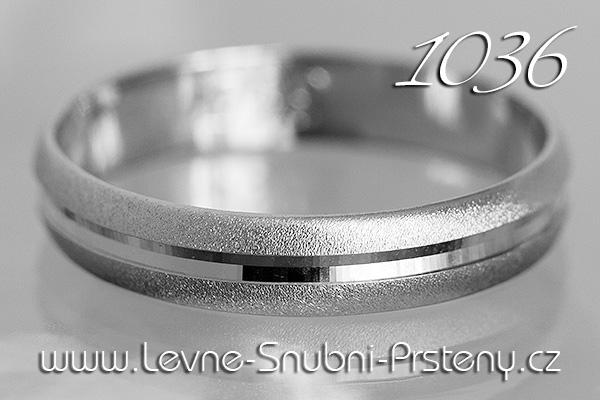 Snubní prsteny LSP 1036b bílé zlato