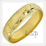 Snubní prsteny LSP 1037 žluté zlato