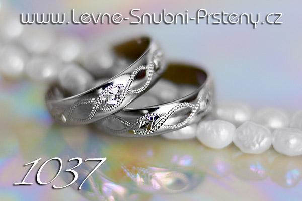 Snubní prsteny LSP 1037b bílé zlato