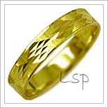 Snubní prsteny LSP 1038 žluté zlato
